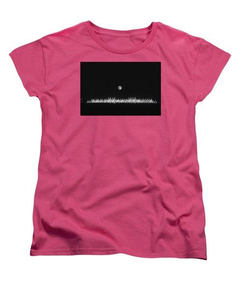 Moonset Over Dia Women's T-Shirt (Standard Cut)