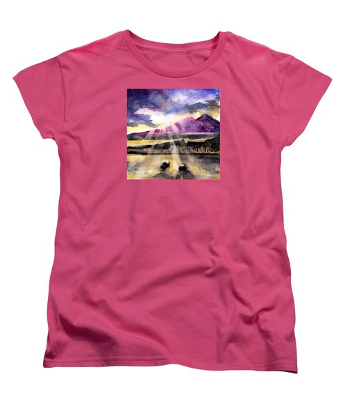 Mooring In Vancouver Tonight Women's T-Shirt (Standard Cut) by Randy Sprout