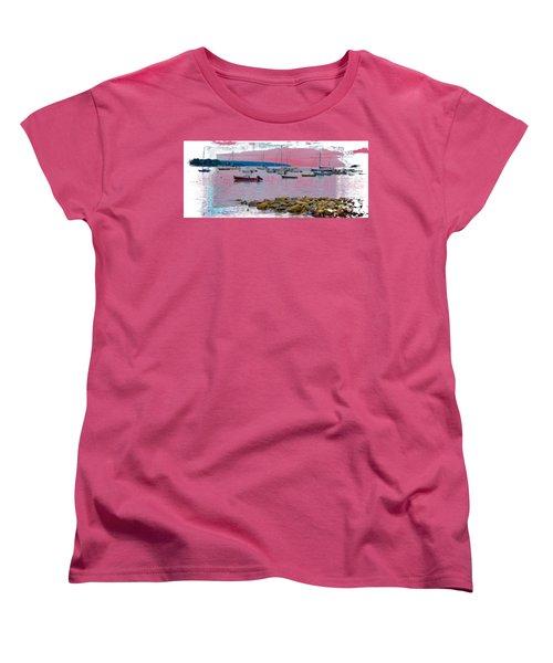 Moorings Mug Shot Women's T-Shirt (Standard Cut) by John M Bailey