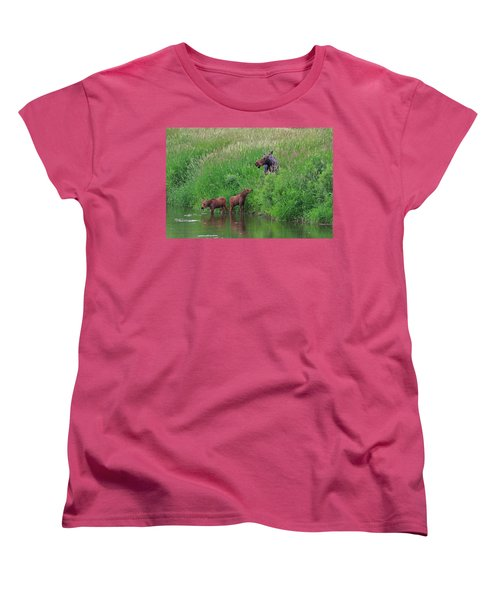 Moose Play Women's T-Shirt (Standard Cut) by Matt Helm
