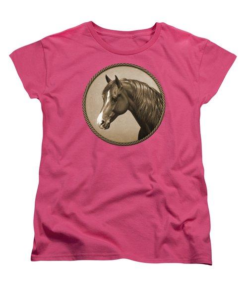 Morgan Horse Phone Case In Sepia Women's T-Shirt (Standard Fit)