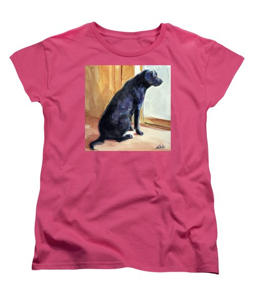 Women's T-Shirt (Standard Cut) featuring the painting Morgan's View by Molly Poole