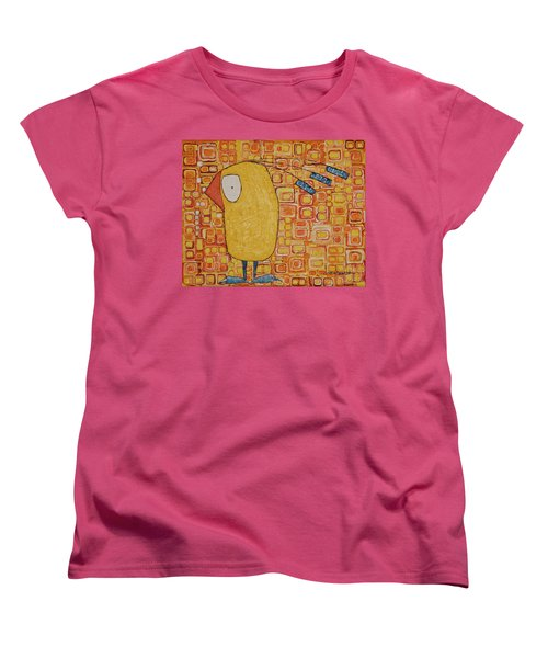 Women's T-Shirt (Standard Cut) featuring the painting Morning Bird by Donna Howard