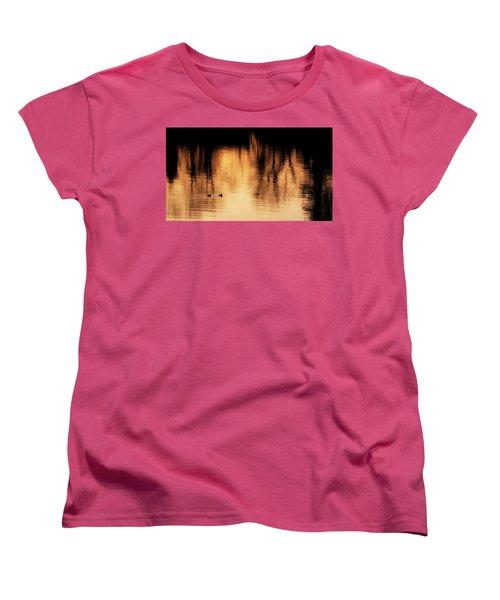 Women's T-Shirt (Standard Cut) featuring the photograph Morning Ducks 2017 by Bill Wakeley