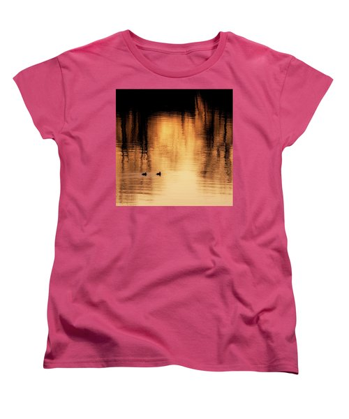Women's T-Shirt (Standard Cut) featuring the photograph Morning Ducks 2017 Square by Bill Wakeley