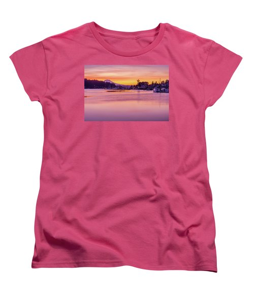 Morning Sunrise In Gig Harbor Women's T-Shirt (Standard Cut) by Ken Stanback