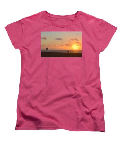 Women's T-Shirt (Standard Cut) featuring the photograph Morro Sunset by AJ Schibig