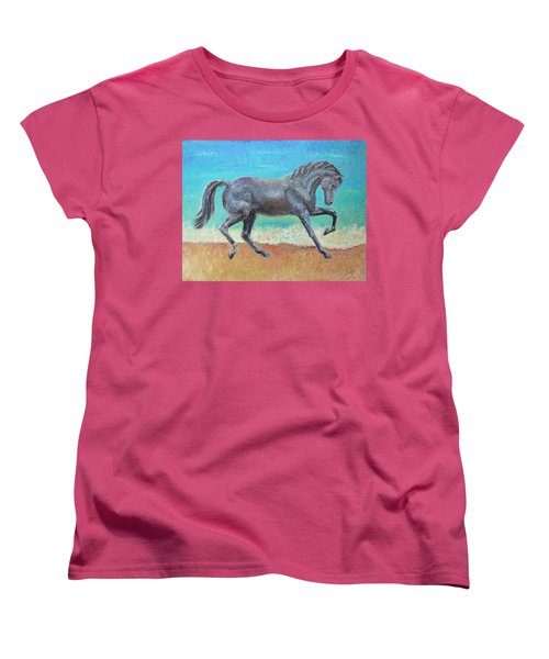 Women's T-Shirt (Standard Cut) featuring the painting Mosaic by Elizabeth Lock