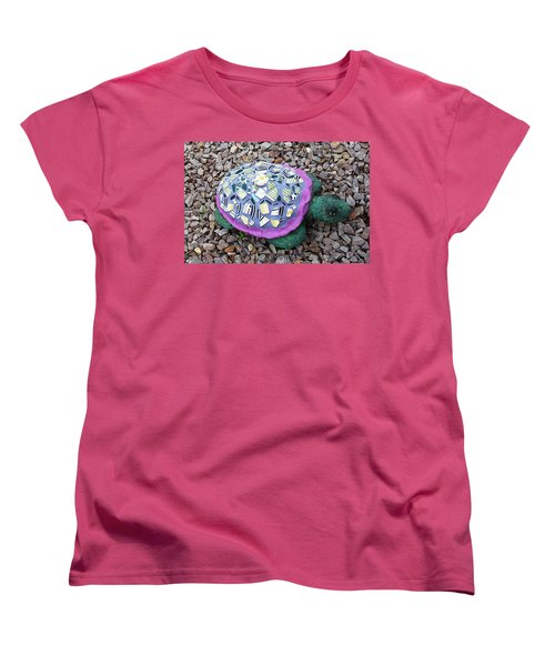 Women's T-Shirt (Standard Cut) featuring the ceramic art Mosaic Turtle by Jamie Frier