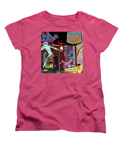 Motel Variations Night Of The Flyng Coyote Women's T-Shirt (Standard Cut) by Ann Tracy