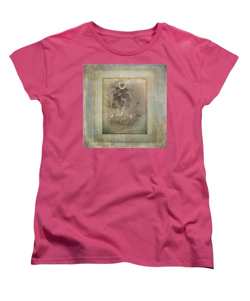 Mother And Child Reunion Vintage Frame Women's T-Shirt (Standard Cut) by Susan Capuano