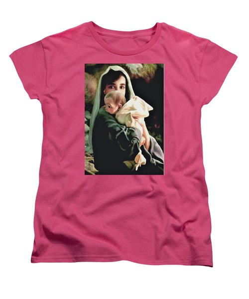 Mother And Child Women's T-Shirt (Standard Cut) by Ron Chambers