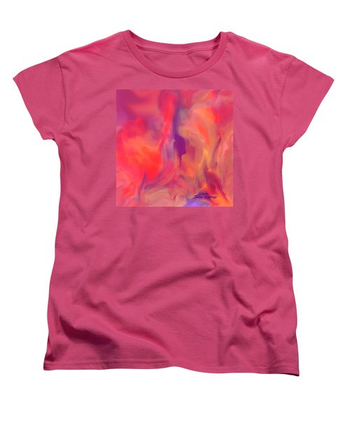 Mother And Daughter Abstract Women's T-Shirt (Standard Cut) by Sherri's Of Palm Springs