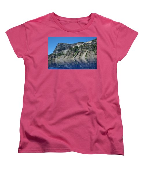 Women's T-Shirt (Standard Cut) featuring the photograph Mountain Blue by Laddie Halupa