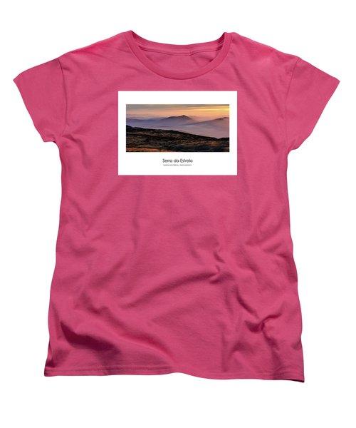 Women's T-Shirt (Standard Cut) featuring the photograph Mountain Mist Poster by Marion McCristall