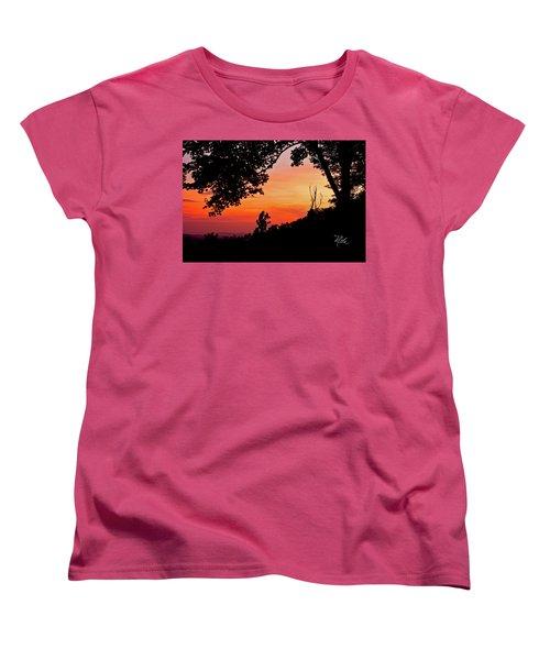 Women's T-Shirt (Standard Cut) featuring the photograph Mountain Sunrise by Meta Gatschenberger