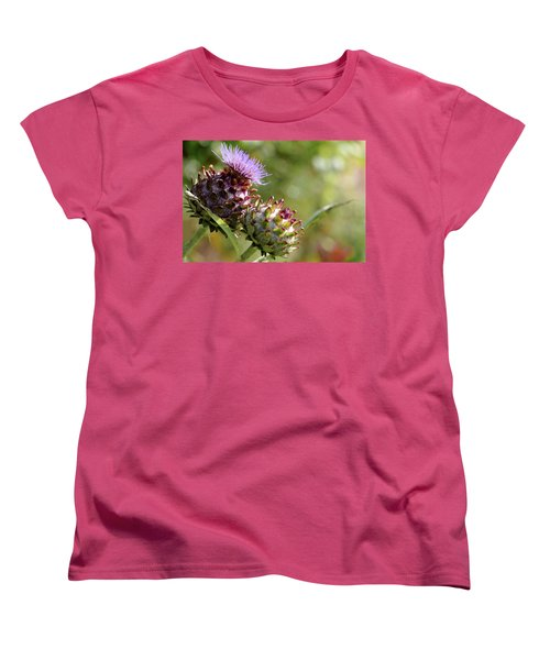Mr And Mrs Thistle  Women's T-Shirt (Standard Cut) by Jeremy Lavender Photography