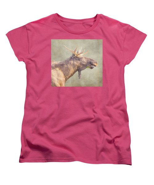 Mr Moose Women's T-Shirt (Standard Cut) by Roy McPeak