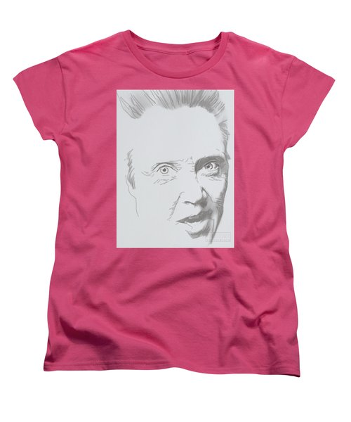 Women's T-Shirt (Standard Cut) featuring the mixed media Mr. Walken by TortureLord Art