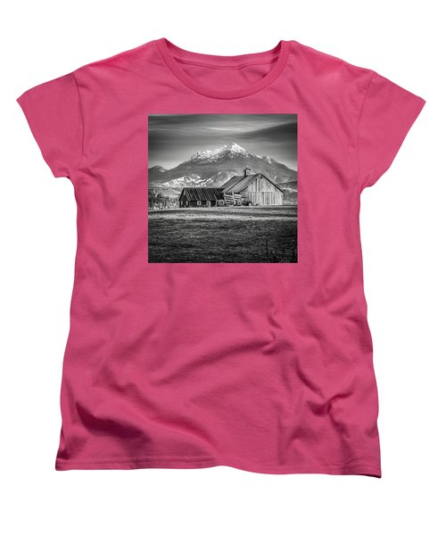 Mt Pilchuck Women's T-Shirt (Standard Cut) by Tony Locke