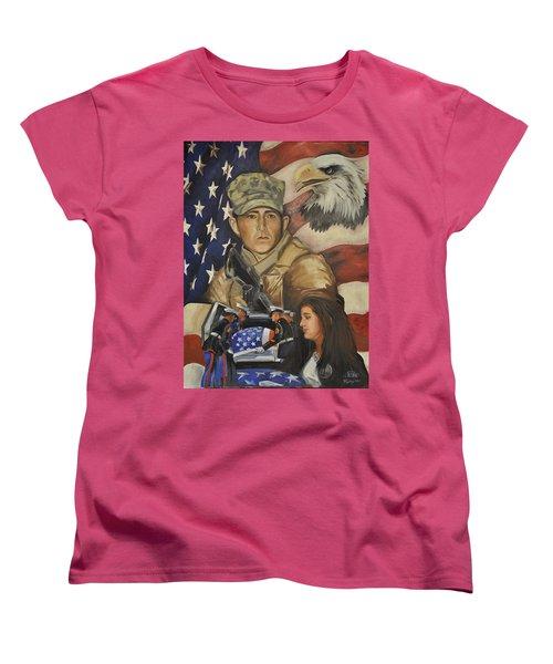 Much Too Young Women's T-Shirt (Standard Cut) by Ken Pridgeon