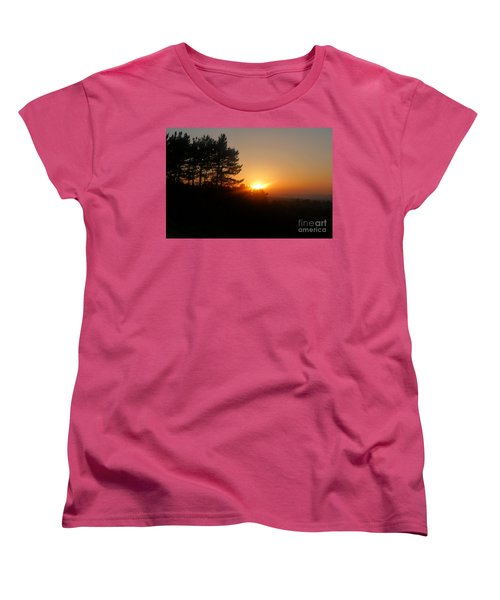Mulholland Sunset And Silhouette Women's T-Shirt (Standard Cut) by Nora Boghossian