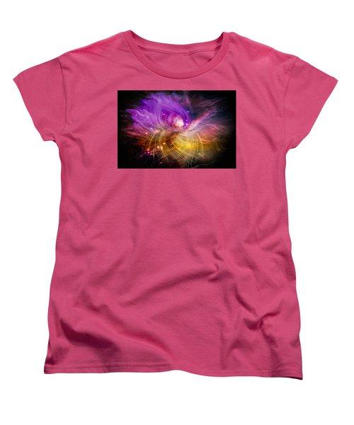 Women's T-Shirt (Standard Cut) featuring the digital art Music From Heaven by Carolyn Marshall