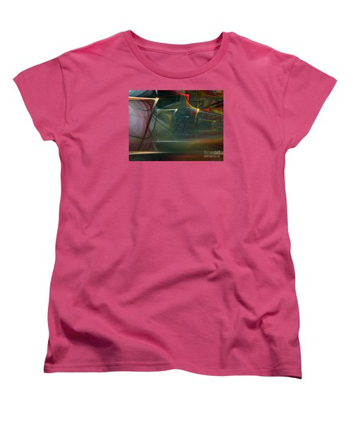 Women's T-Shirt (Standard Cut) featuring the digital art Music Sound by Karin Kuhlmann