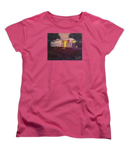 Women's T-Shirt (Standard Cut) featuring the painting My Airstream Dream II by Suzanne McKay