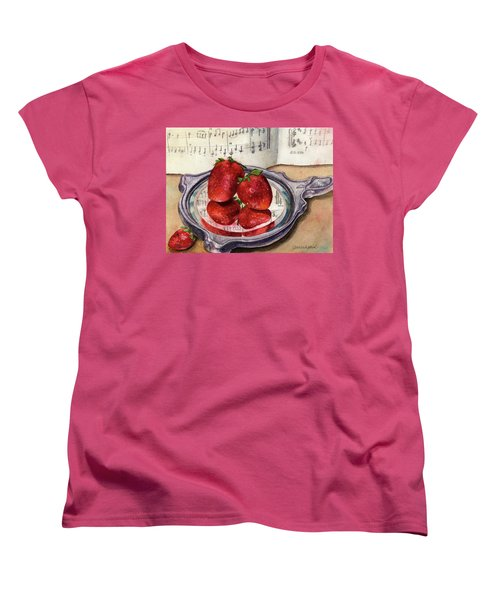 Women's T-Shirt (Standard Cut) featuring the painting My Antique Mirror by Anne Gifford