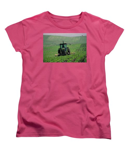 My Big Green Tractor Women's T-Shirt (Standard Cut) by Garry McMichael