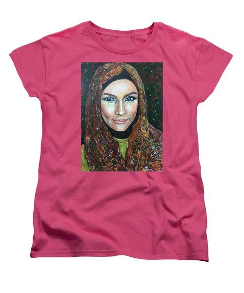 Women's T-Shirt (Standard Cut) featuring the painting My Fair Lady II - Come Home - Geylang Si Paku Geylang by Belinda Low