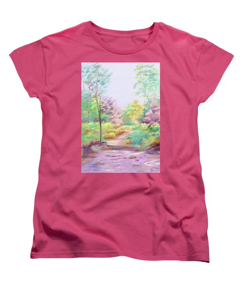 Women's T-Shirt (Standard Cut) featuring the painting My Favourite Place by Elizabeth Lock