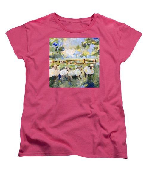 My Sheep Will Follow Me Women's T-Shirt (Standard Cut) by Teresa Tilley