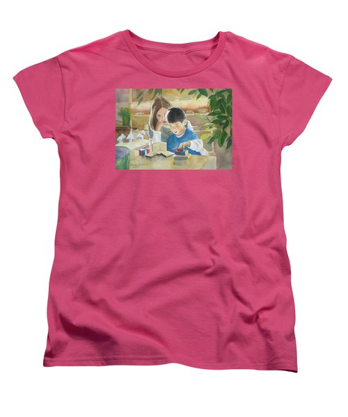Women's T-Shirt (Standard Cut) featuring the painting My Work by Marilyn Jacobson
