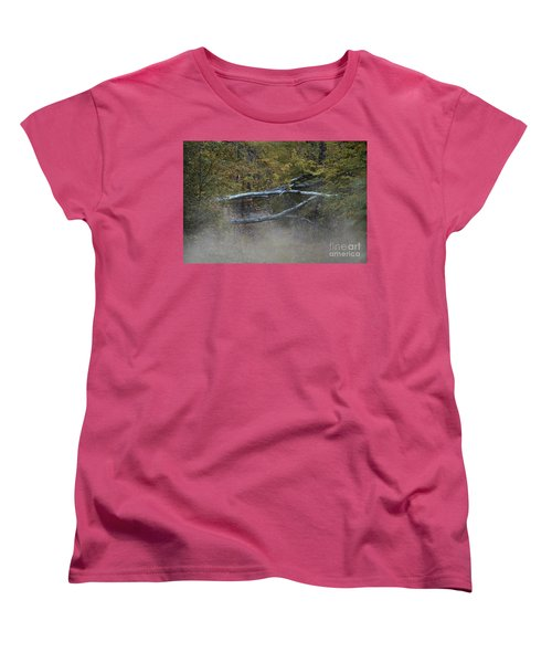 Women's T-Shirt (Standard Cut) featuring the photograph Mystery In The Fall by Skip Willits