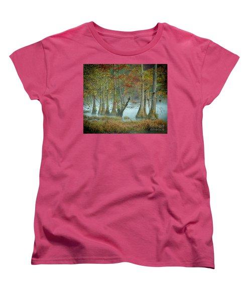 Women's T-Shirt (Standard Cut) featuring the photograph Mystical Mist by Iris Greenwell