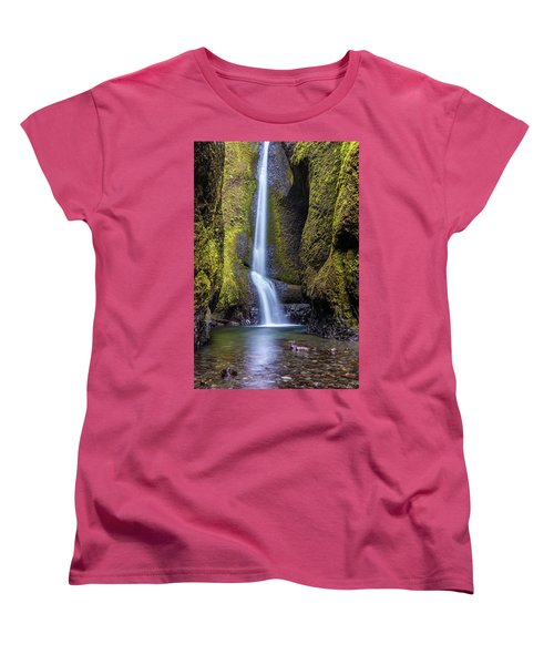 Women's T-Shirt (Standard Cut) featuring the photograph Mystical Oneonta Falls by Pierre Leclerc Photography