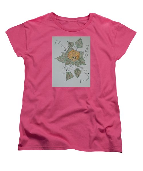 Women's T-Shirt (Standard Cut) featuring the drawing Nana Rose Is Here by Sharyn Winters