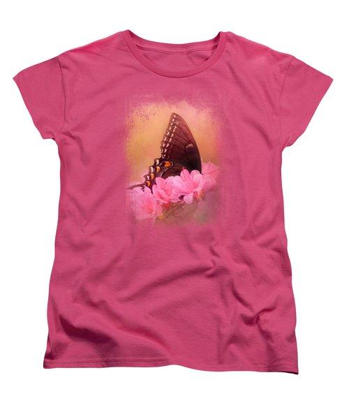 Napping In The Azaleas Women's T-Shirt (Standard Cut)