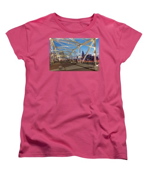 Women's T-Shirt (Standard Cut) featuring the photograph Nashville Bridge by Brian Jannsen