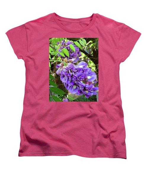 Native Wisteria Vine II Women's T-Shirt (Standard Cut) by Angela Annas