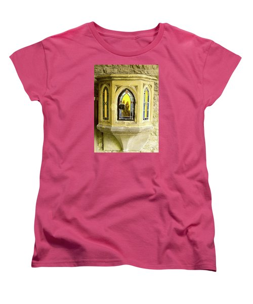 Women's T-Shirt (Standard Cut) featuring the photograph Nativity In Ancient Stone Wall by Linda Prewer