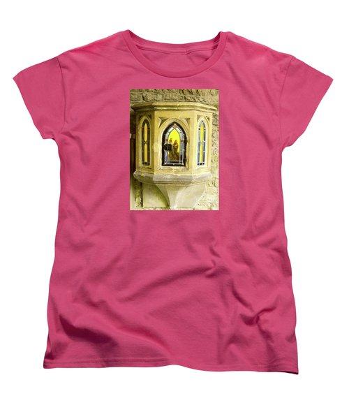 Nativity In Ancient Stone Wall Women's T-Shirt (Standard Cut) by Linda Prewer