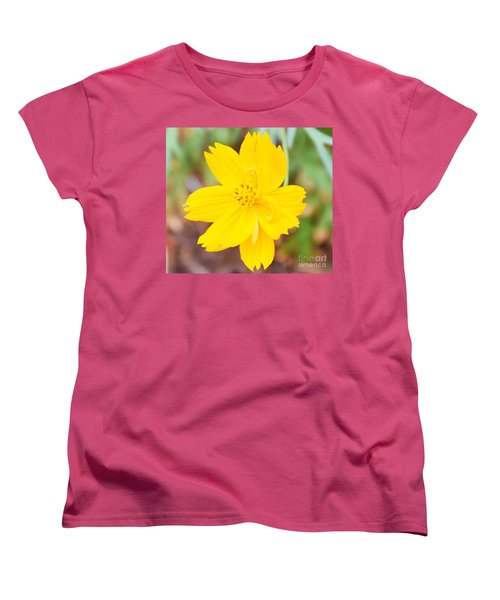 Women's T-Shirt (Standard Cut) featuring the photograph Nature Colorful Flower Gifts - Yellow by Ray Shrewsberry