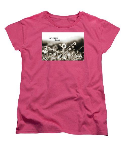 Nature's  Smile Monochrome Women's T-Shirt (Standard Cut)