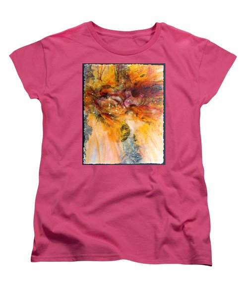 Naturescape In Red Women's T-Shirt (Standard Cut) by Carolyn Rosenberger