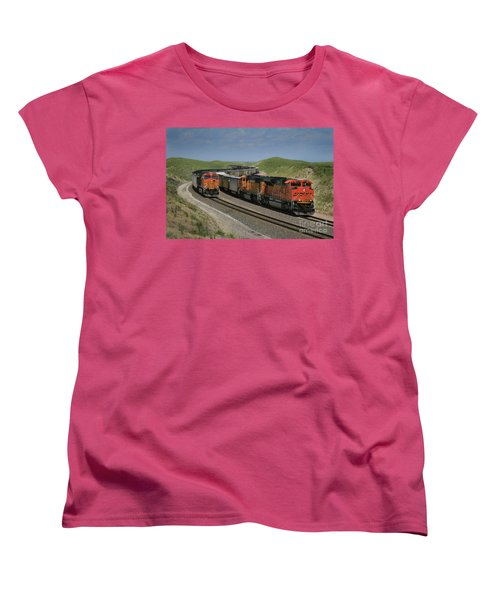Nebraska Coal Trains Women's T-Shirt (Standard Cut) by Garry McMichael