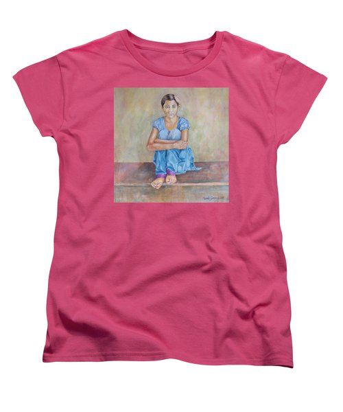 Nepal Girl 4 Women's T-Shirt (Standard Cut) by Marty Garland