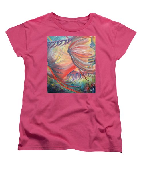 Women's T-Shirt (Standard Cut) featuring the painting Neptune's View by Renate Nadi Wesley